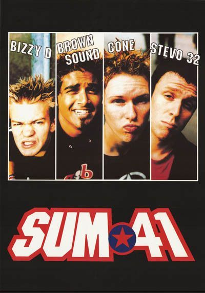 Sum 41 Band Nicknames Poster 24x34 in 2019 | music saved me | Pop