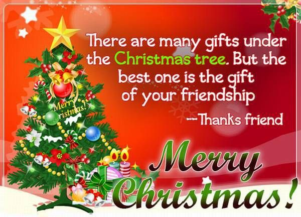 Gift Of Friendship Merry Christmas Friend Merry Christmas Graphic Christmas  Quote Christmas Greeting