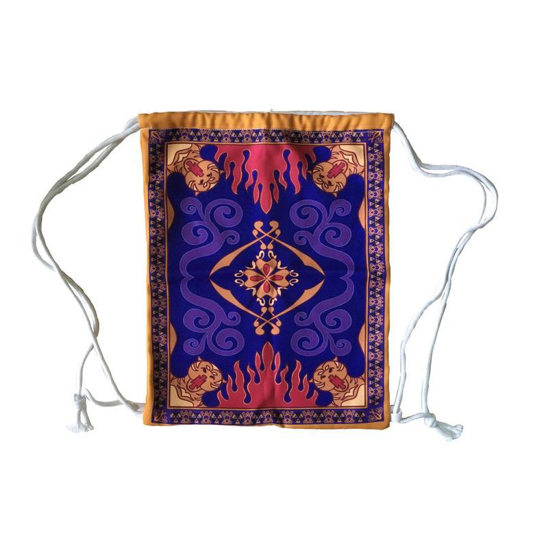 Aladdin Magic Carpet Inspired Drawstring Backpack Etsy Aladdin Magic Carpet Magic Carpet Aladdin