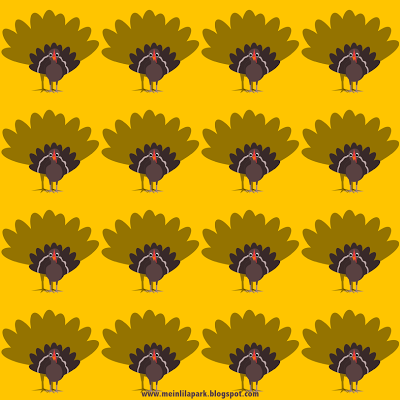 FREE printable Thanksgiving turkey pattern papers
