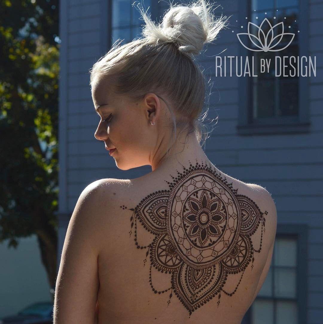 Henna Back Tattoo Drawing: Henna Back Tattoos For Women