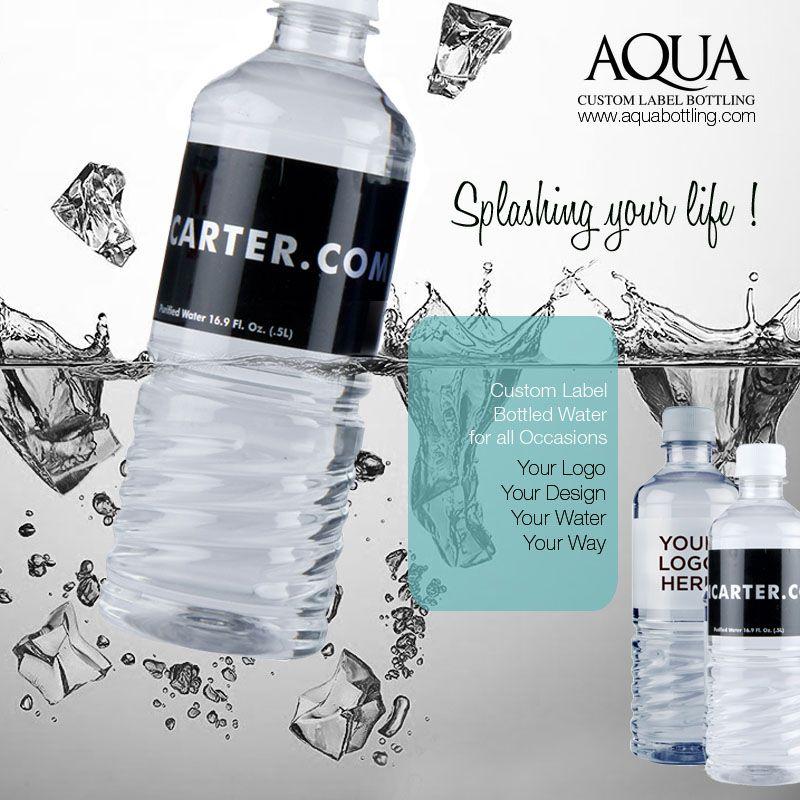 Privatelabelbottledwatersupplier We Aqua Bottling A Private Label Bottled Water Supplier In Austin Texas Dallas Houston Usa Provides Custom Logo On B