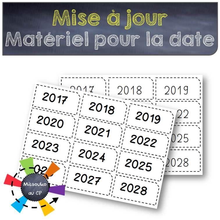 Matériel pour la date   Mise à jour | Calendrier préscolaire, Date