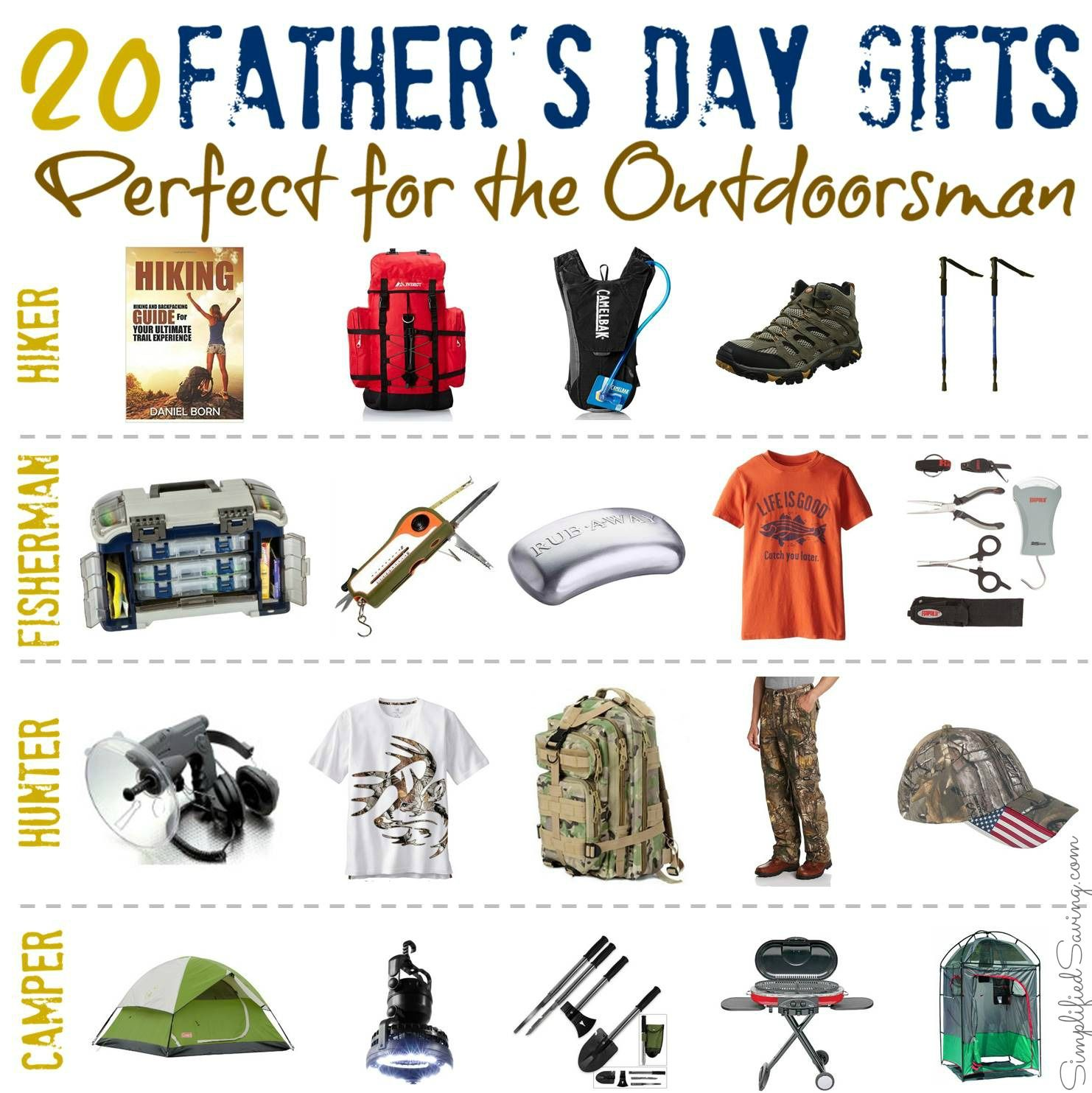 Good Christmas Gift Ideas For Outdoorsmen Part - 2: Fatheru0027s Day Gifts For Outdoorsmen From SimplifiedSaving.com