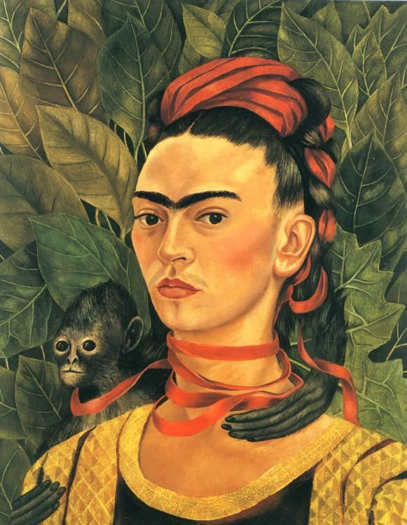 Frida Kahlo, Self-Portrait with Monkey (1940).