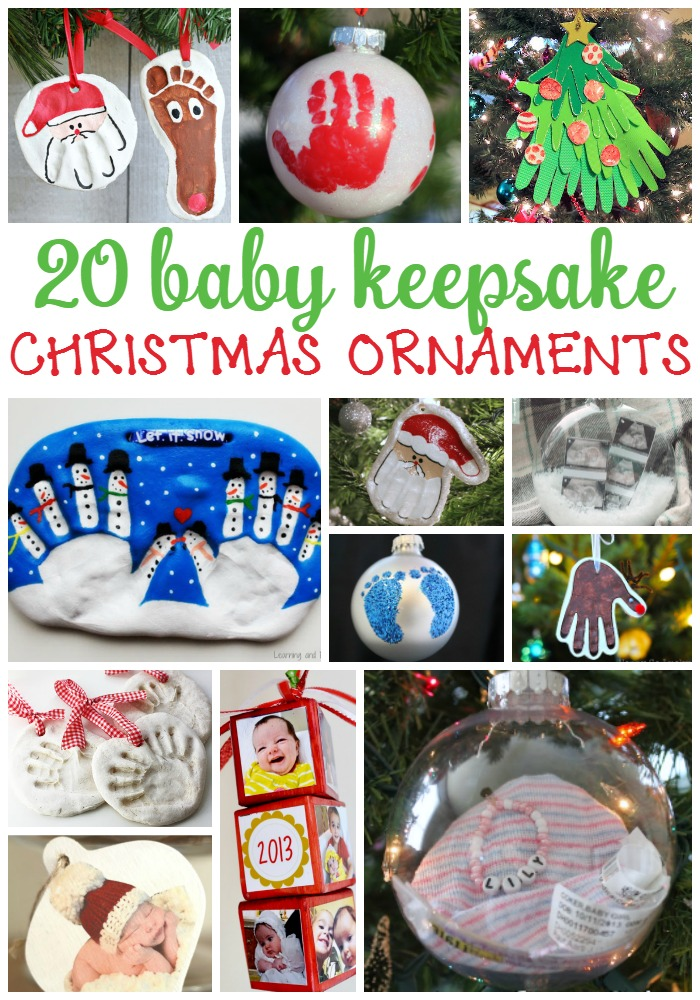 20 Homemade Keepsake Ornaments for Baby's First Christmas #babychristmascrafts