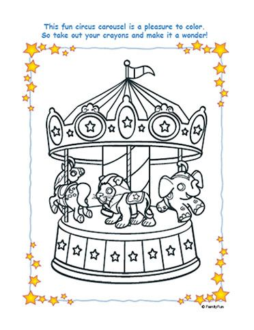 Coloring Pages For Kids Circus Theme Pinterest Coloring Pages