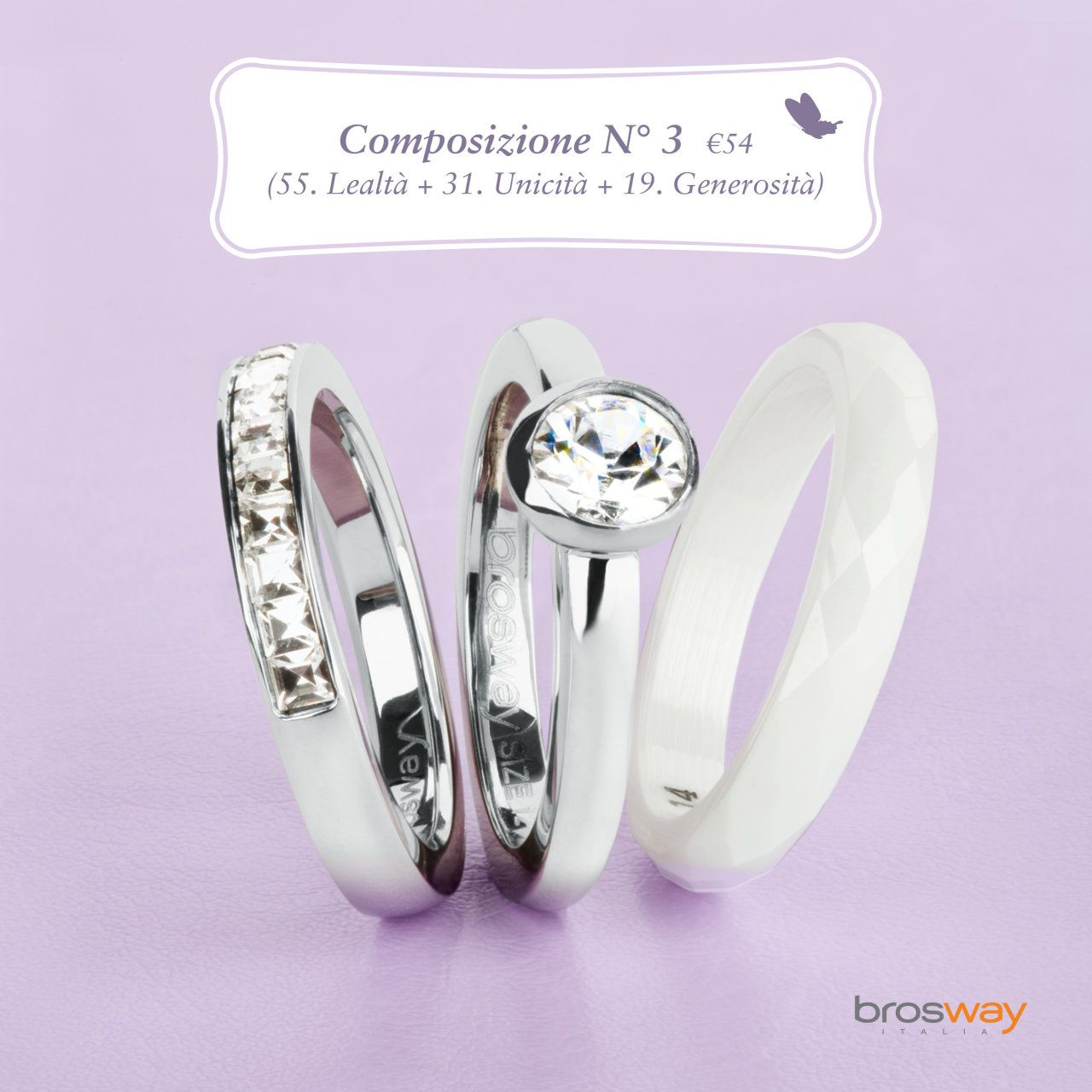 moda la moda più votata l'ultimo Brosway gioielli - anelli componibili | fashion and graphic ...
