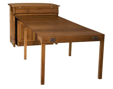 pull out dining table | frontier island buffet with pull out table