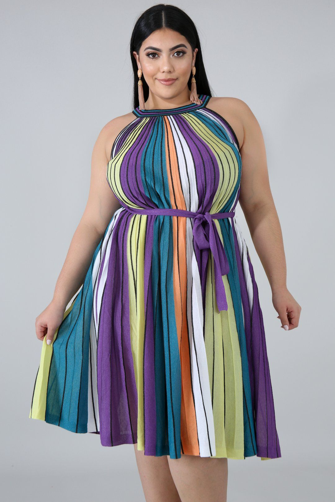 Metallic Stripe Maxi Dress Style 50743 Xdescriptionthis Rainbow Pleated Maxi Dress Features A Stretchy Fabr Striped Maxi Dresses Maxi Dress Style Maxi Dress [ 1620 x 1080 Pixel ]