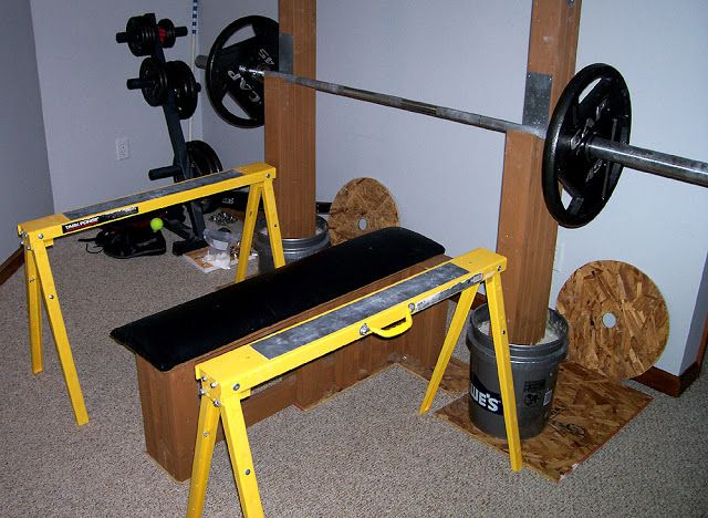 Homemade Strength The Strongest Bench You Ll Never Buy Diy Home Gym Squat Stands Home Made Gym