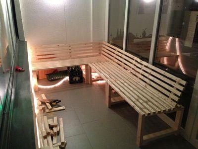 Balkonmöbel selber bauen  Balkonmöbel selber bauen | peaceful balcony ☀ | Pinterest ...