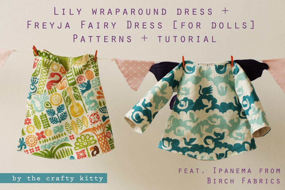 Freyja fairy doll dress pattern and Lily doll dress pattern ...