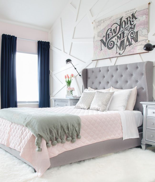 how to decorate a room beautifully with blush pink shabbyfufu com grey bedroom with pop of on grey and light pink bedroom decorating ideas id=28367