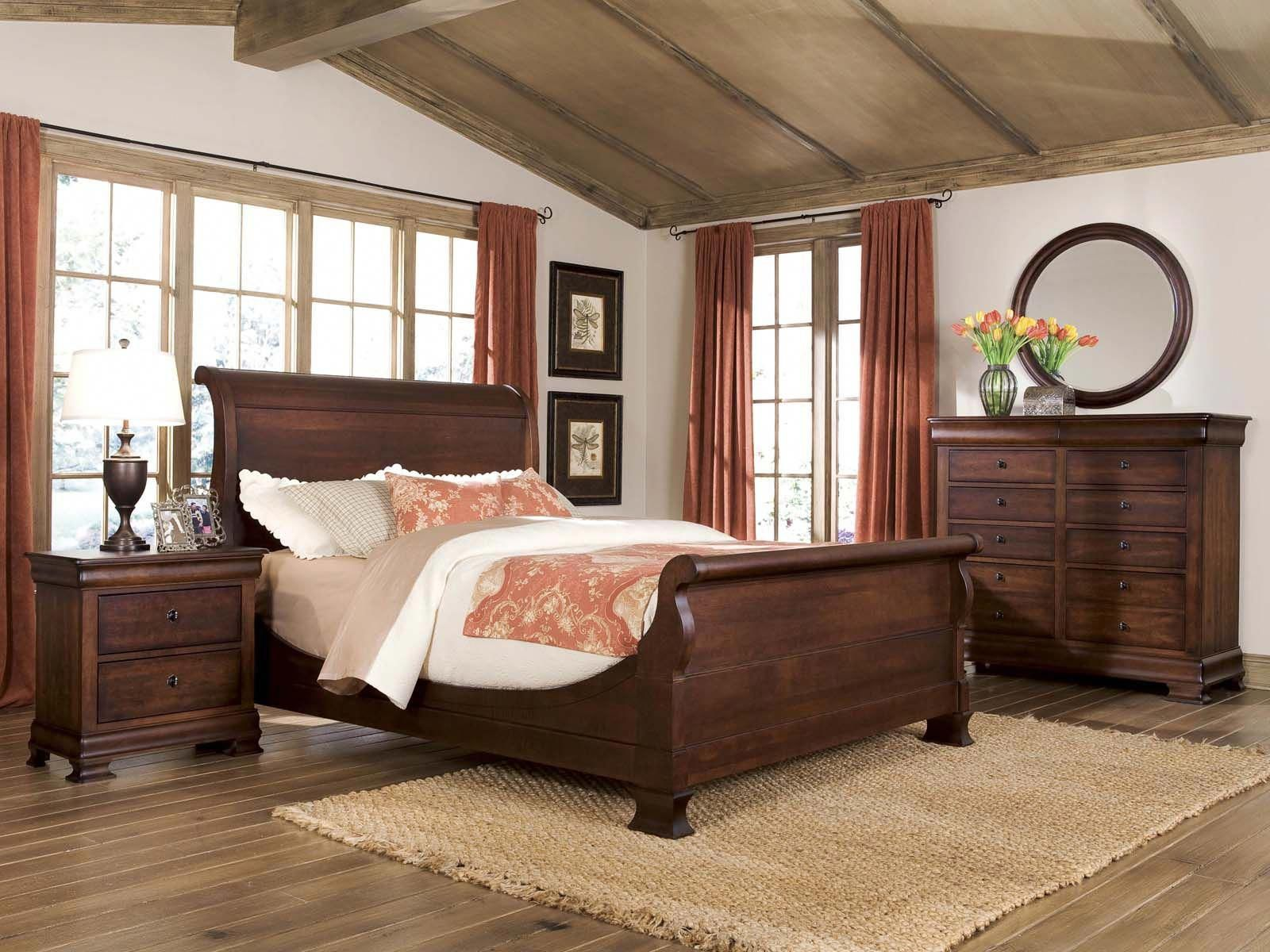 Durham furniture vineyard creek 4piece master sleigh