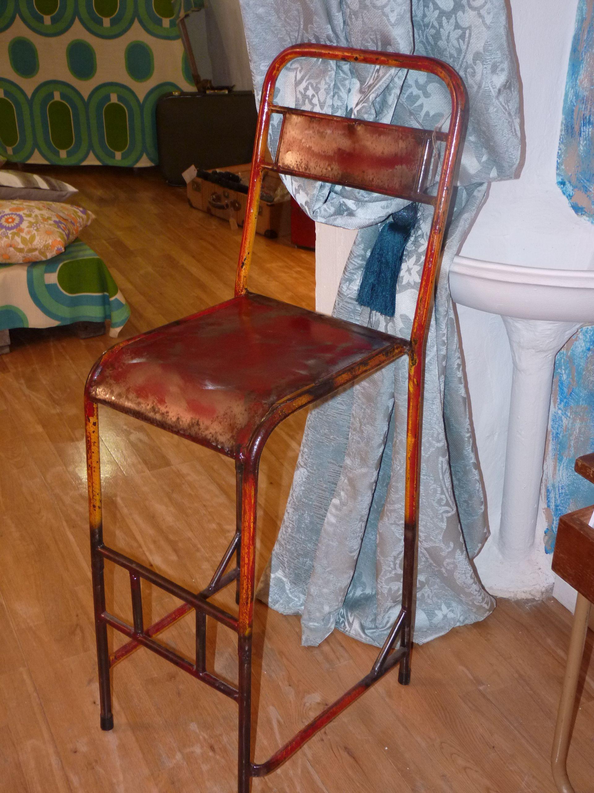 Taburete De Material Reciclado De Bidones Muebles De Reciclados  # Muebles Bidones