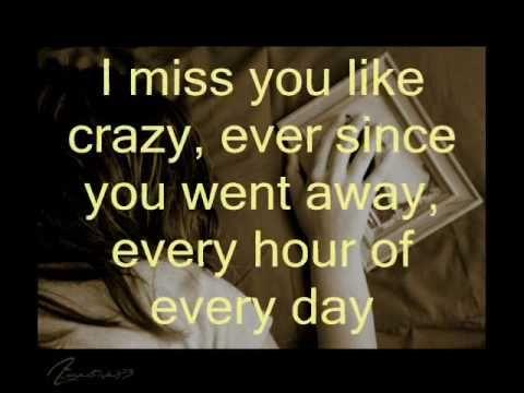 Miss You Like Crazy Lyrics Natalie Cole Crazy Lyrics Natalie Cole Miss You