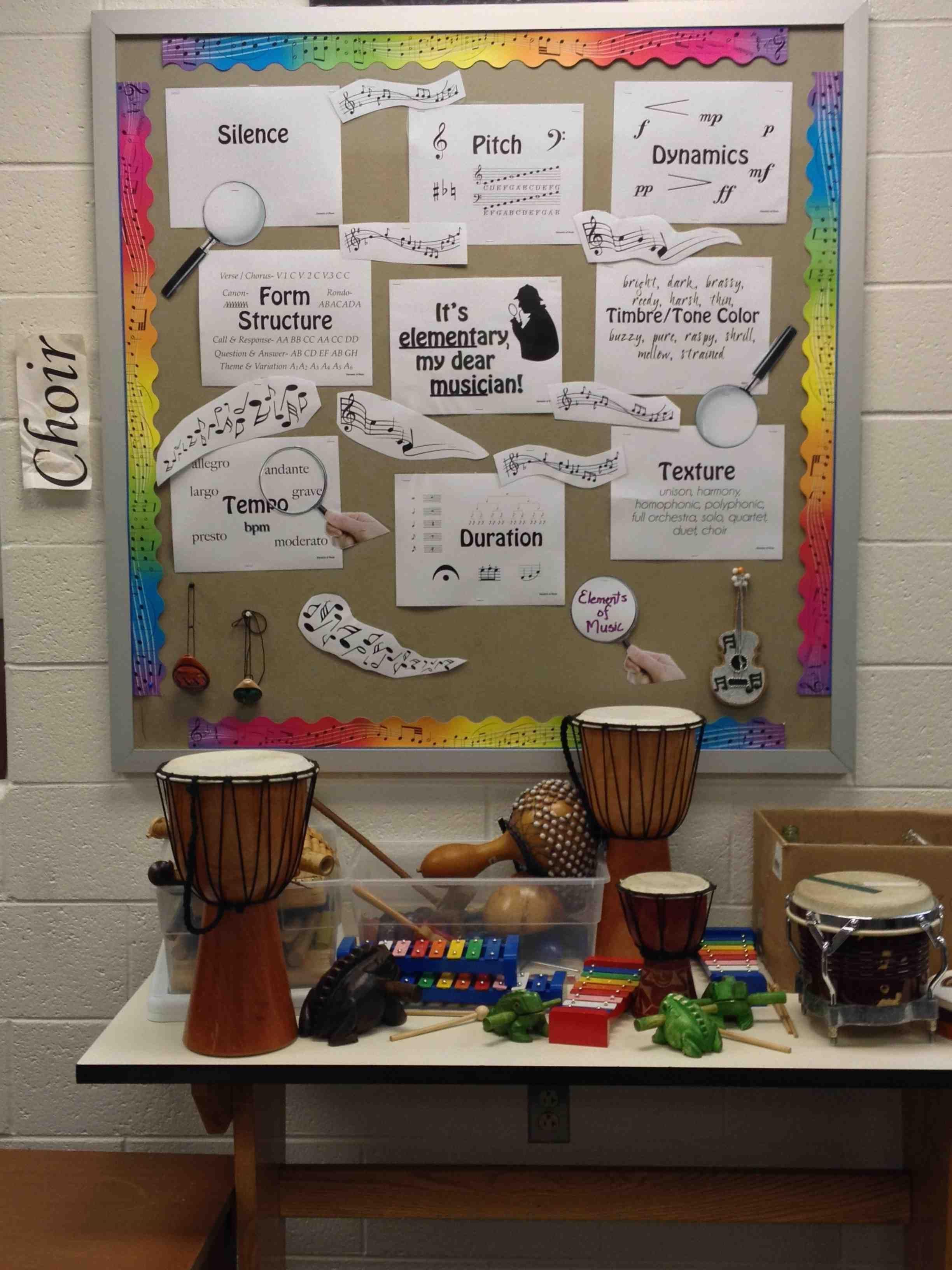 Elements Of Music Word Wall Bulletin Board Music Word Walls Music Bulletin Boards Word Wall