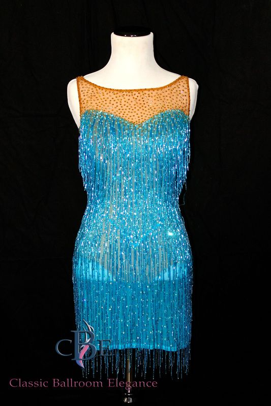 Latin Dance Dress for Rent by Jordy. Available exclusively thru Classic Ballroom Elegance for Rental or Purchase at www.cberentals.com