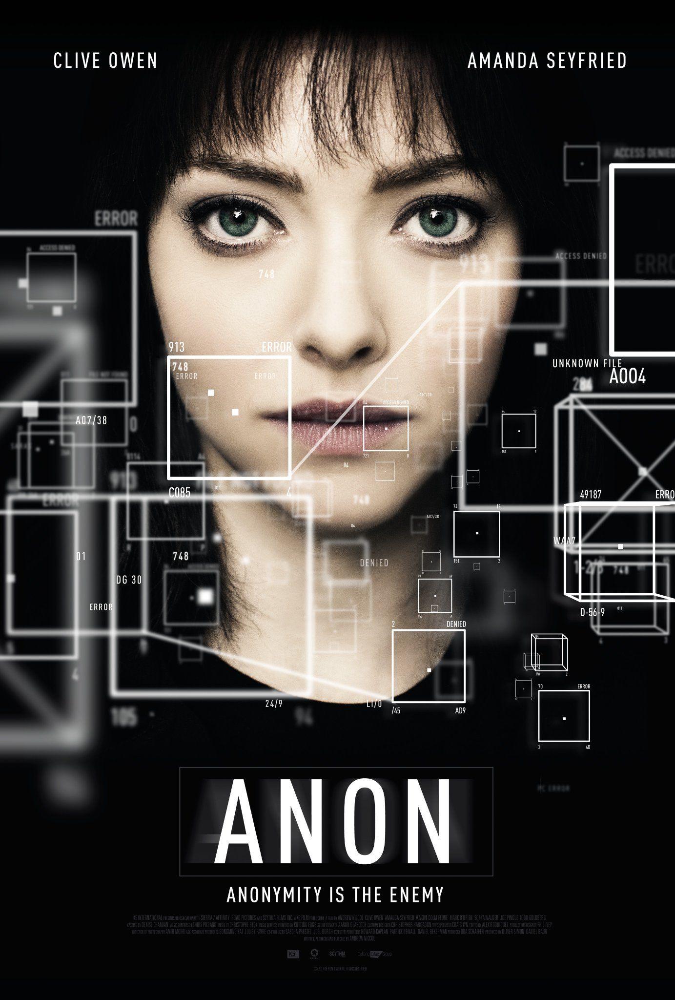'Anon' (2018) Anon Movie, Movie 21, Film Movie, Free