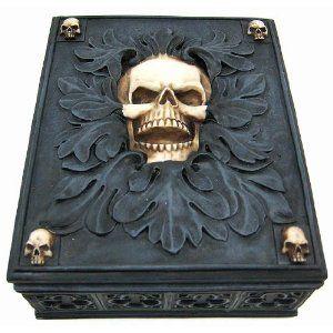 Creepy Gothic Skull Jewelry / Trinket Box Valet