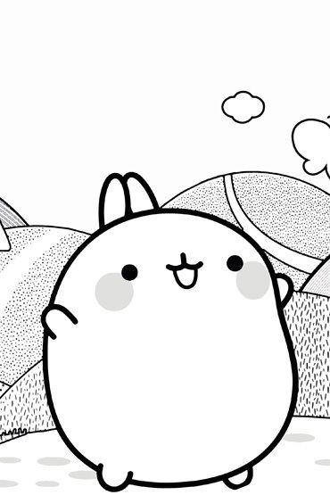 Molang Colouring Page 1   Coloring pages, Outline art ...