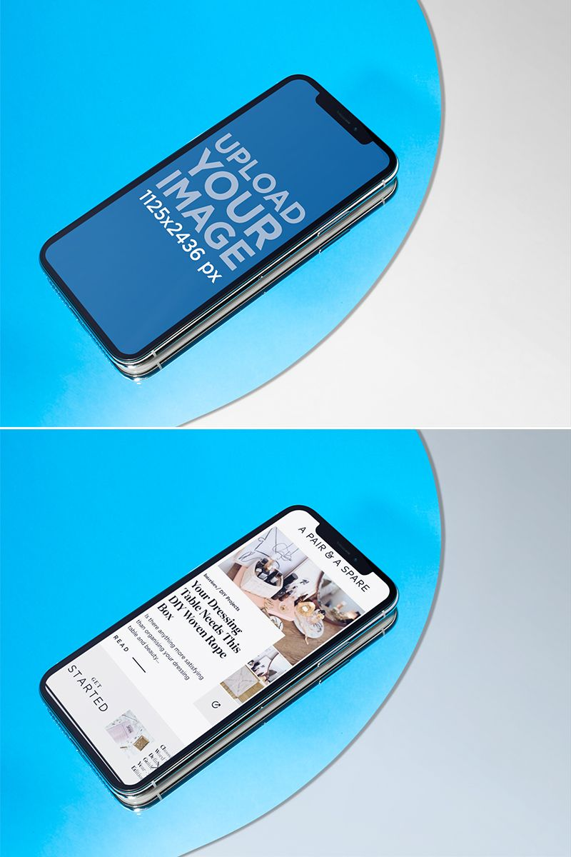 Download Placeit Iphone 11 Pro Mockup Lying On A Light Blue Circle Over A Solid Color Surface Iphone Mockup Iphone Solid Color