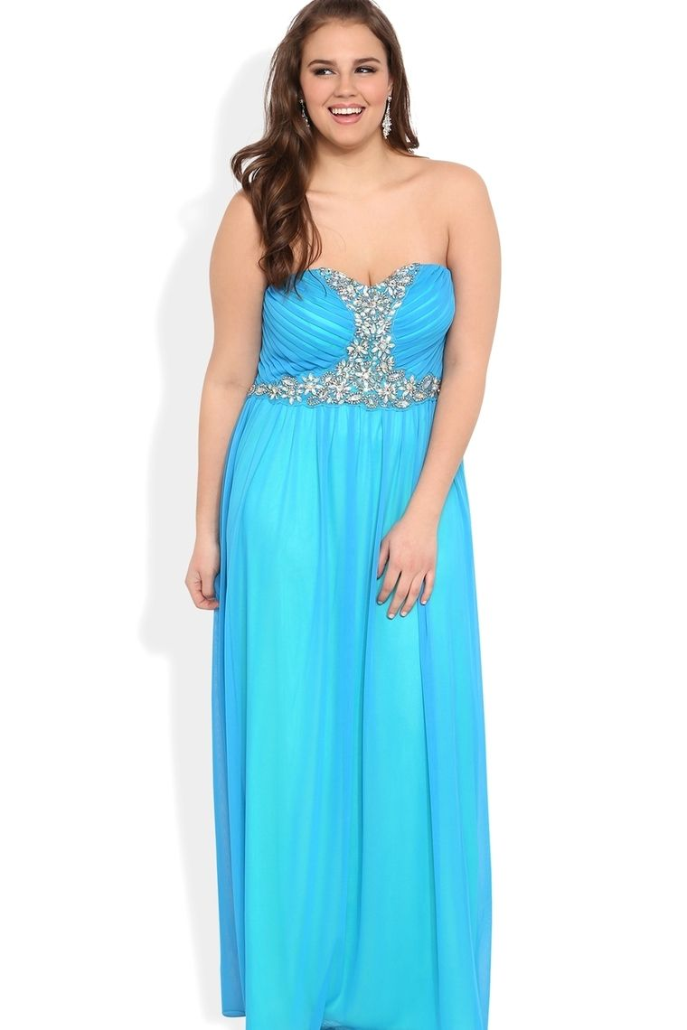 babydoll floor length plus size chiffon stone prom dress picture 4 ...