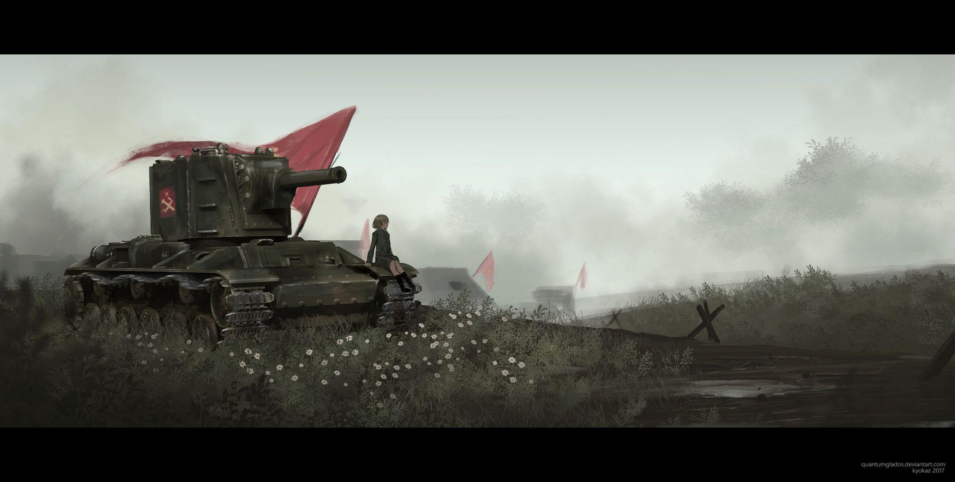 Start commanding your army in these tank games now. ArtStation - KV-2, Faiz Azhar | Anime military, Tank girl, Historical anime