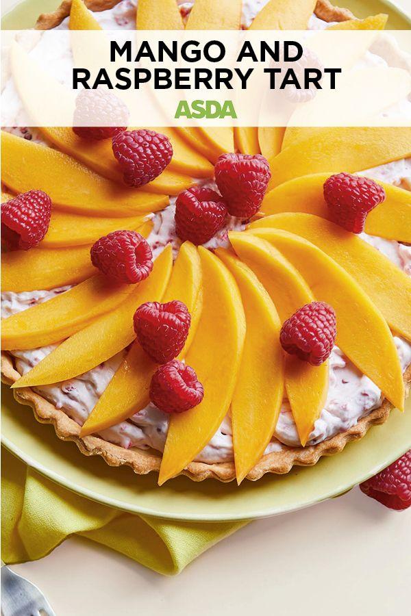 Mango and raspberry tart Recipe Raspberry tarts, Food