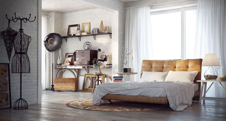 industrial interior design bedroom - Google Search