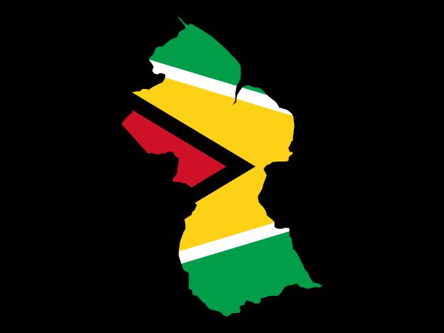 Flag Map Of Guyana Free Vector Maps Map Vector Guyana Flag Guyana