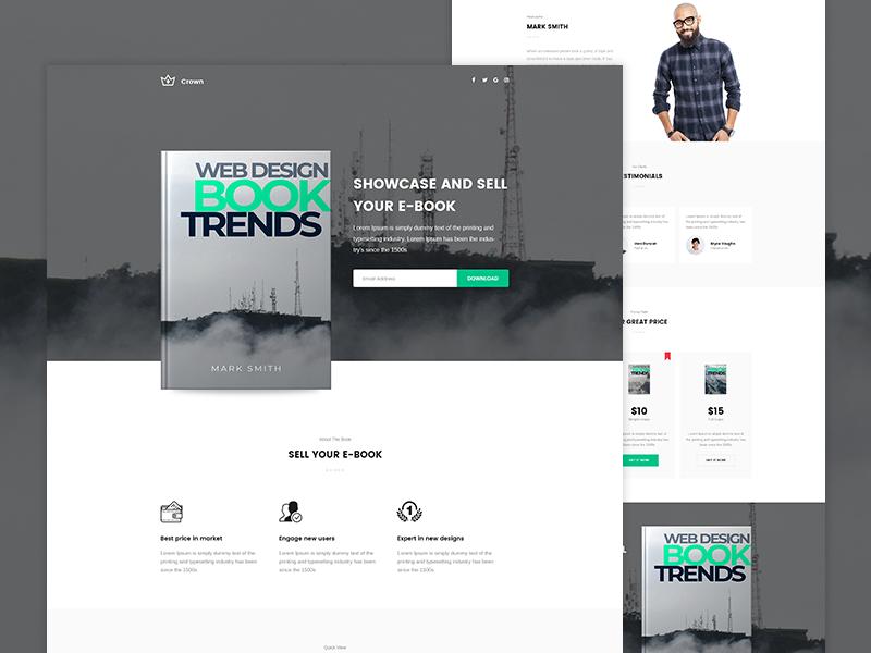 Crown Ebook Landing Page Landing Page Web Design Books Web Design