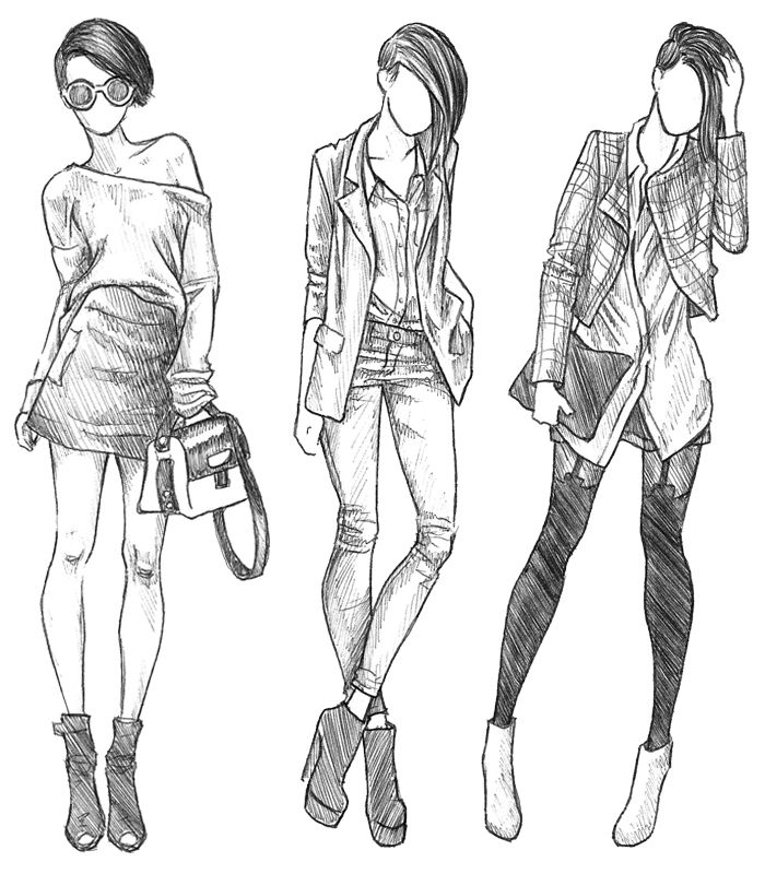 рисунки на тему мода карандашом время стоянки нет
