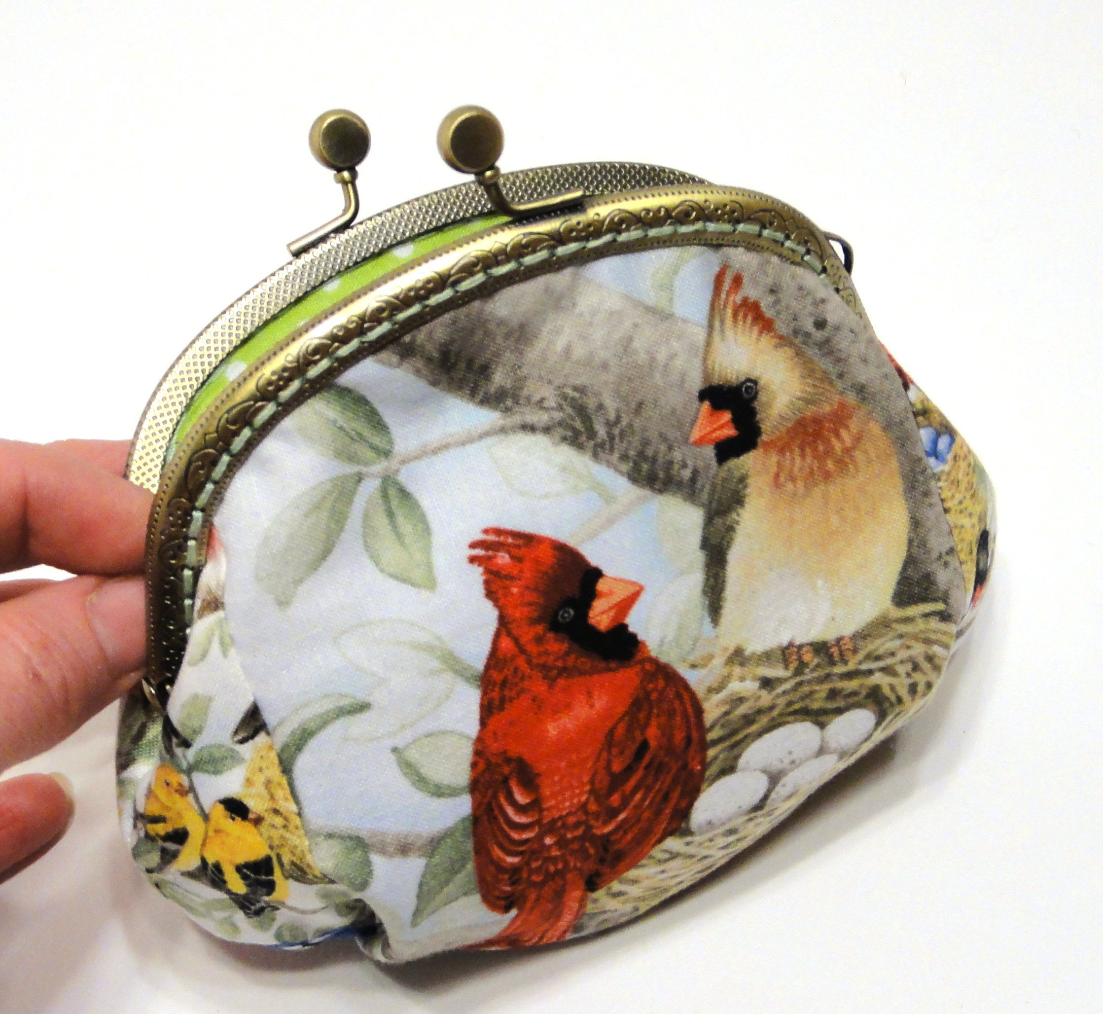 Funny Little Cats Coin Purses Vintage Pouch Kiss-lock Change Purse Wallets