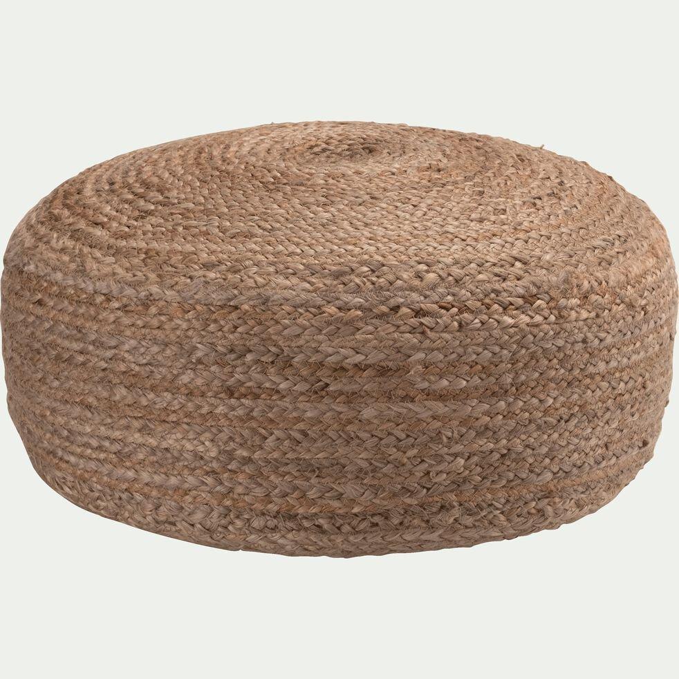 Pouf en jute - naturel D10xH10cm - NAÏA - coussin de sol et pouf