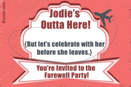 10 Farewell Party Invitation Wordings