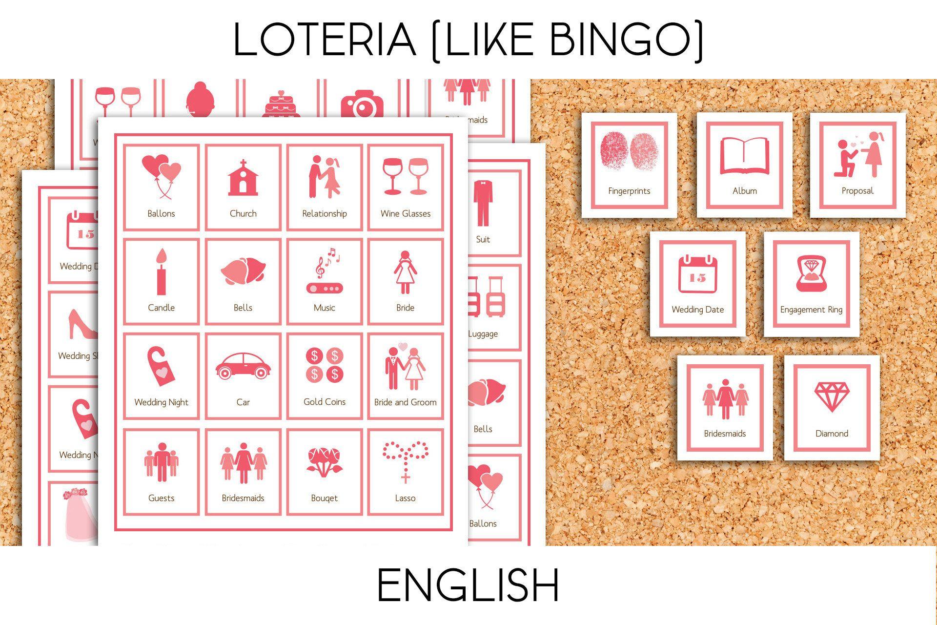 Loteria for Bridal Shower/Bachelorette Party (like Bingo