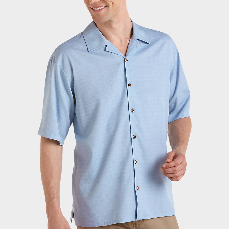joseph feiss resort blue camp collar shirt camp shirts