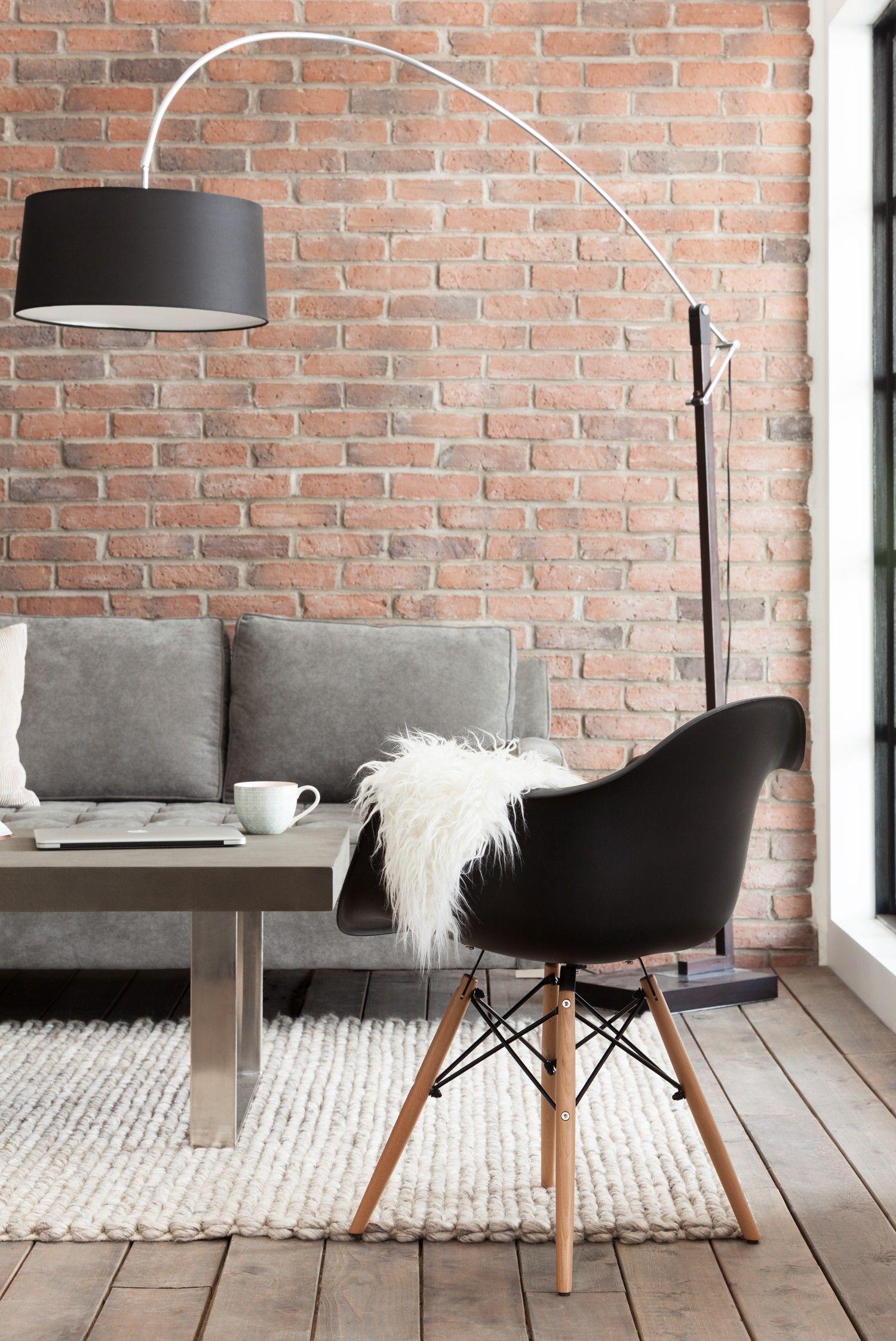 EIFFEL Chaise  accoudoirs avec base en bois