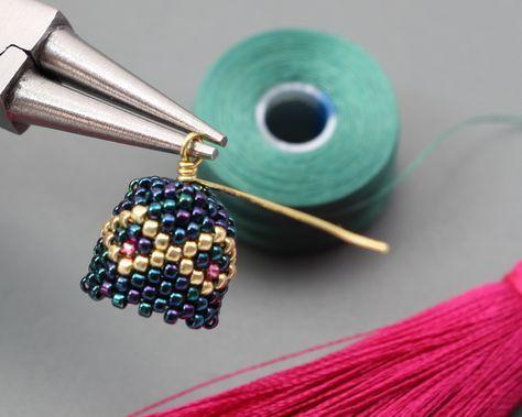 Peyotel Tassel Earrings Step By Step Seed Bead Tutorials