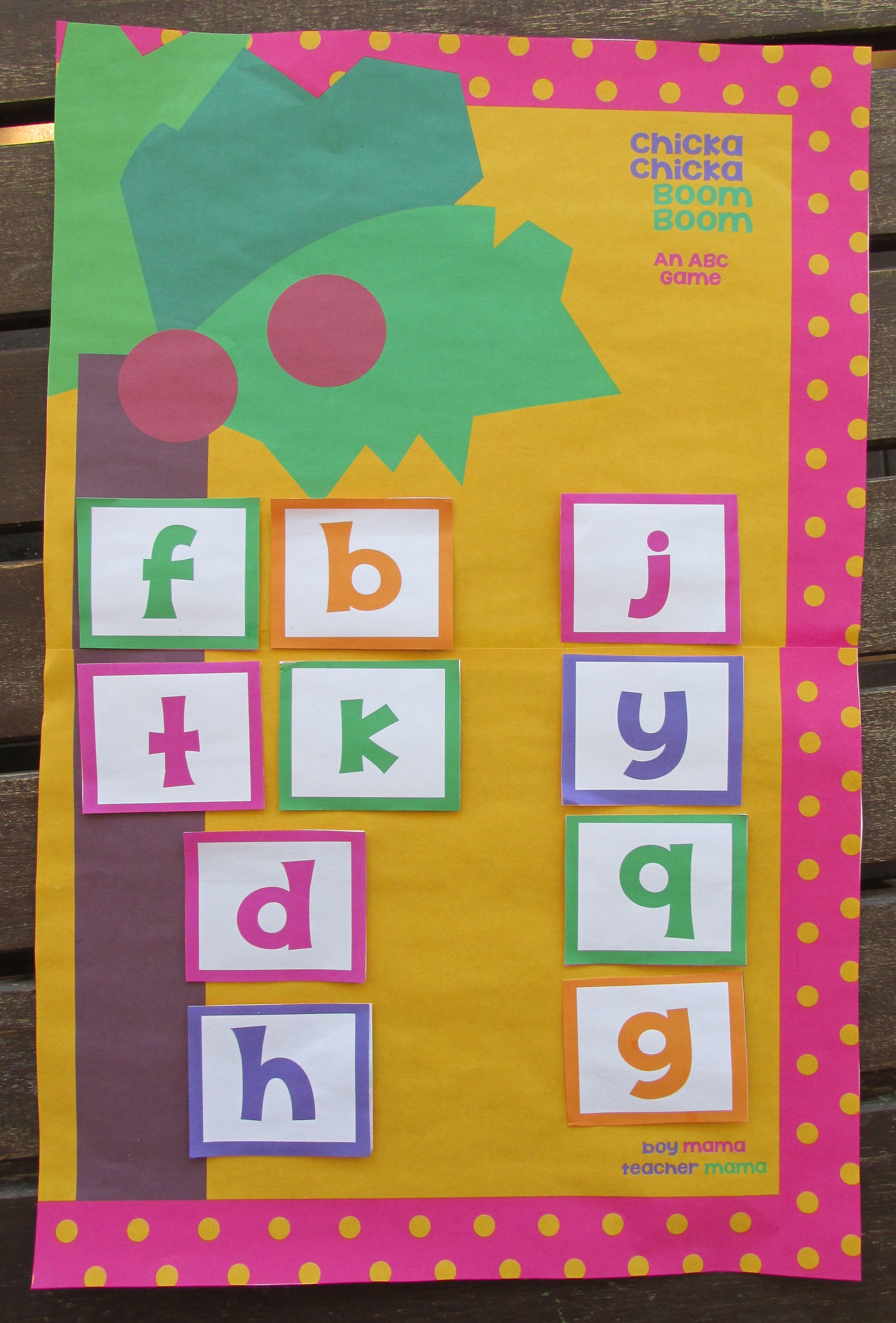 Book Mama Free Chicka Chicka Boom Boom Card Game Virtual