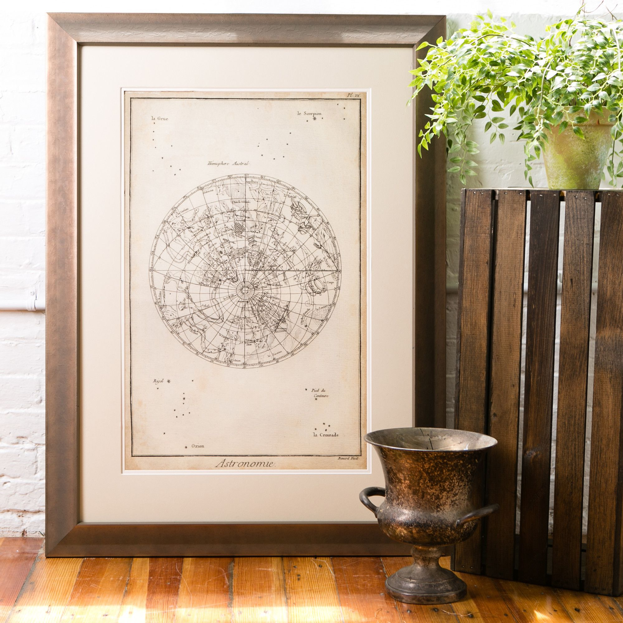 Birch Lane Constellation Framed Print II - Inspired by ancient astronomical maps, this artwork is stunning on its own or paired with the coordinating print in this collection.