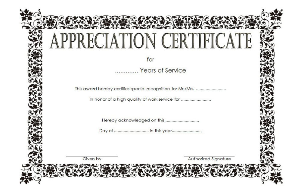 Long Service Award Certificate Template 8 Professional Templates Certificate Templates Awards Certificates Template Service Awards