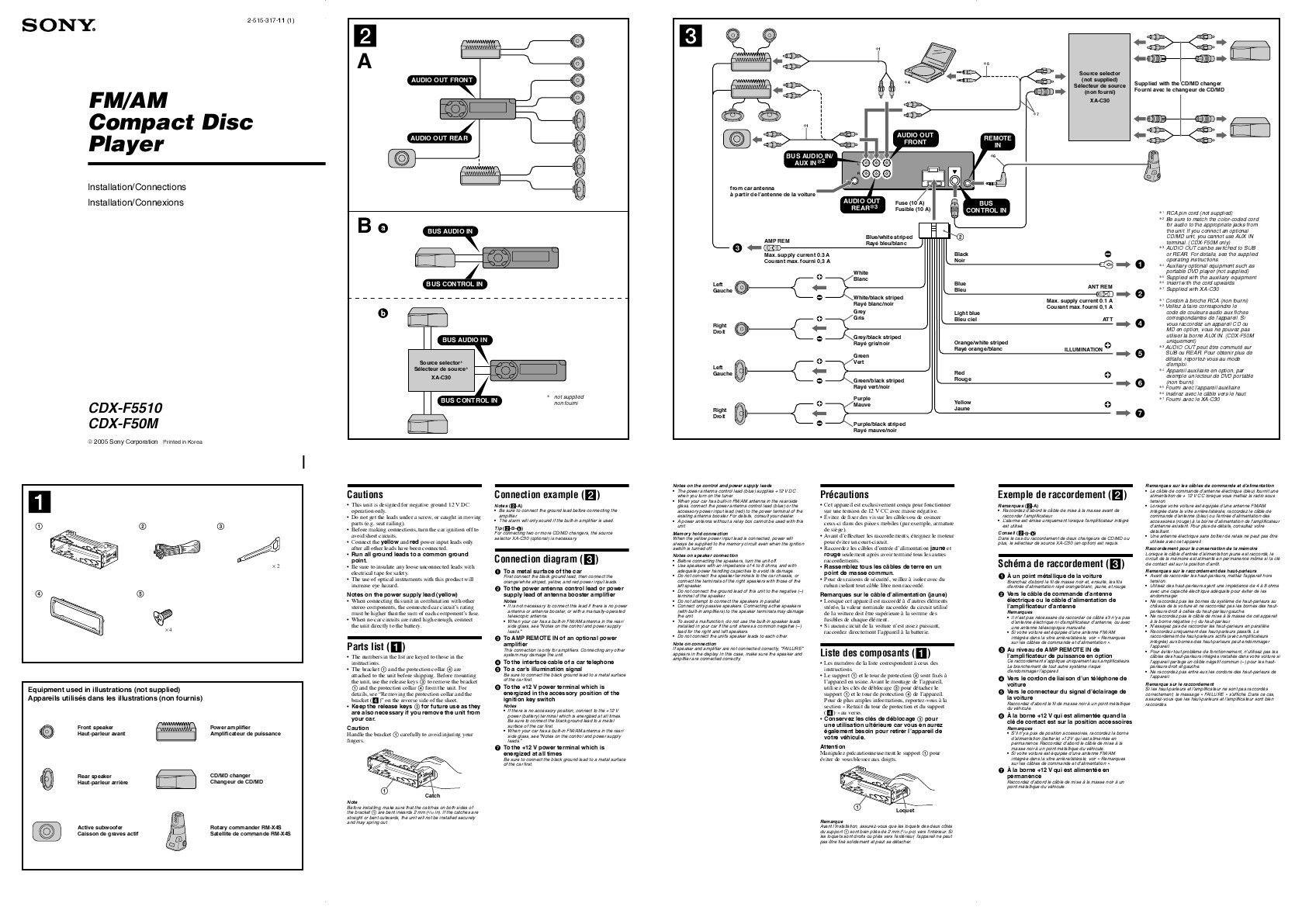 Sony Xplod Car Stereo Wiring Diagram In