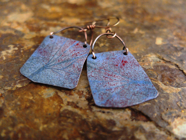 efcolor hand cut copper earrings | Nicky Sadler Designs | Pinterest