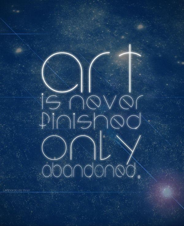 Leonardo da Vinci Quotes by aberkane oussama, via Behance | Artsy ...