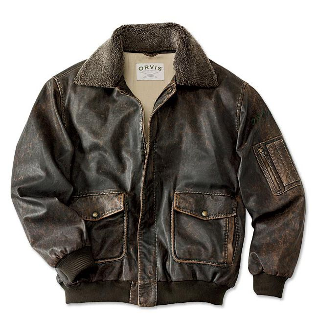 1686d98f70b Just found this Vintage Leather Flight Jacket - The Spirit Leather Flight  Jacket -- Orvis on Orvis.com!