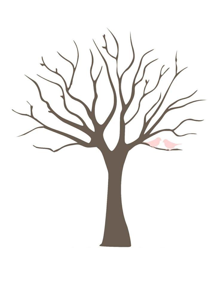 Fingerabdruck Baum Vorlage Madchen Rosa Vogel Fingerabdruck Baum Baum Vorlage Baum Schablone