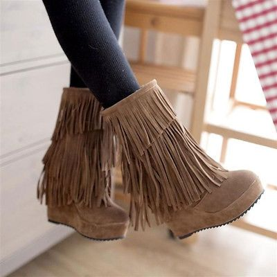 fringe wedges - Fringe Wedges Shit To Buy Pinterest Wedges, Shoe Boot And